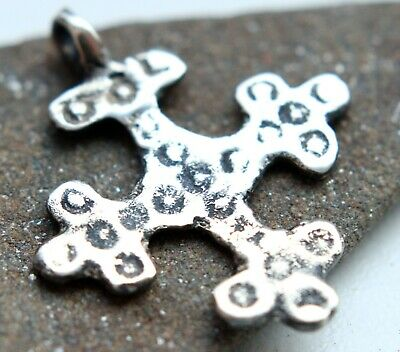 Ancient Viking Ornament Solid Silver Pendant Cross Reproduction (RP002)