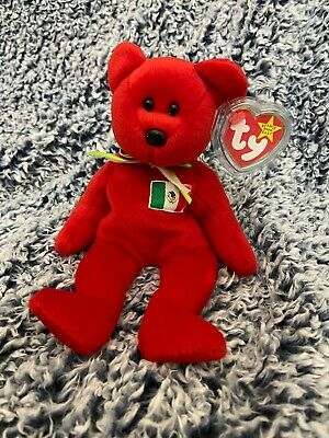 TY Beanie Baby England Exclusive - MWMTs ENGLAND the Bear 8.5 inch