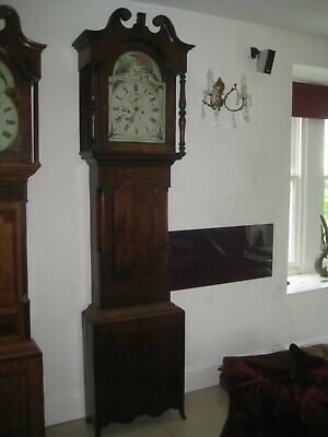 Antique 8 Day Long Case/ Grandfather Clock  With Weights & Pendulum