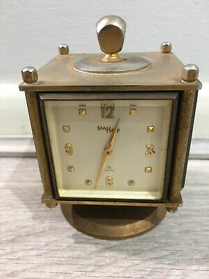 An IMHOF Swiss Clock,Hygrometer,Barometer & Thermometers Of Cube And Swivel Base