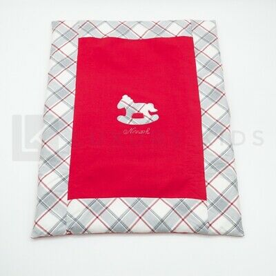 Cover Padded Removable Red with Horse in Rocking Newborn Ninnaoh I19C