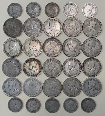 Canadian 80% Silver Lot -  Dimes & Quarters(30 Silver Coins) Early Dates