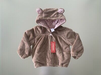 GYMBOREE GIRLS Thick Quilted Padded Bear Jacket Coat - Size 3 - NWT - Gorgeous!