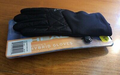 Womens SzS/P Black Head Womens Hybrid Gloves