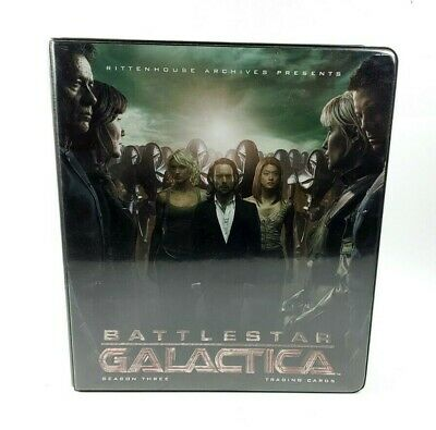 Battlestar Gallactica Season 3 Trading Card Binder with 60+ Cards