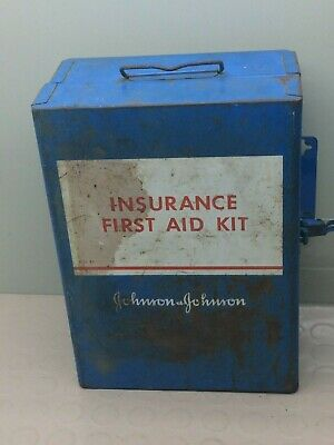 Vintage Insurance First Aid Kit  Metal Box