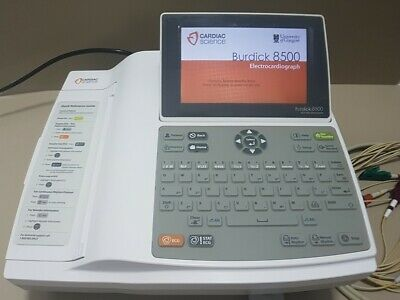 Burdick 8500 ECG/EKG Cardiac Science with leads and power supply