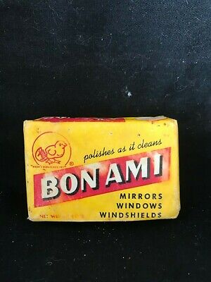 Bon Ami Cake, Yellow Vintage Packaging, 113.4 gn, U.S.A.