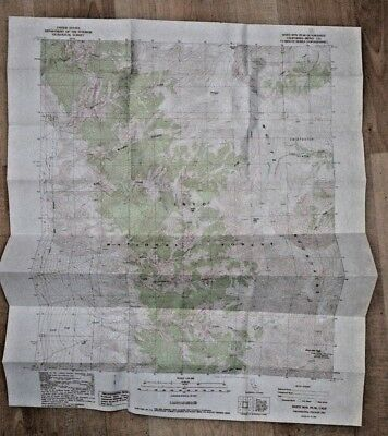 White Mt Peak CA 1987 Topo Map Chart Inyo National Forest 7.5 mi series USGS