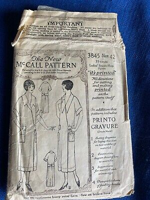 1920s Orig McCall 3845 Sewing Pattern Women Flapper Dress Complete Size 42