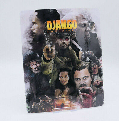 DJANGO UNCHAINED - Glossy Bluray Steelbook Magnet Cover (NOT LENTICULAR)