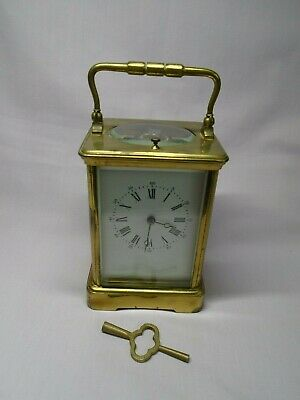 LARGE FRENCH REPEATER CARRIAGE CLOCK c1890 IN GOOD WORKING ORDER + KEY