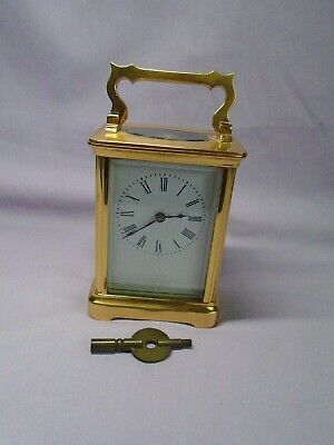 Antique French Timepiece Carriage Clock + Key In Good Condition