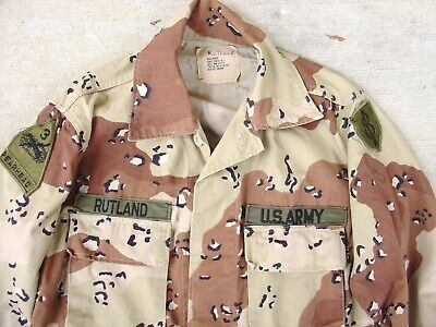 Desert Storm Chocolate Chip 8th Infantry Div 3rd Armored Size Small reg BDU Used