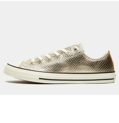 Converse All Star Ox Junior  Ladies Trainers Size: 3