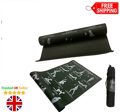 173x61cm Thick Yoga Mat Non Slip 28 Exercise Pilates Gym Picnic Camping Straps