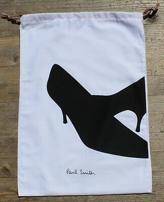 New - PAUL SMITH Drawstring Dust Bag For Pair Women's Shoes