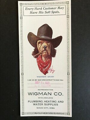 Bloodhound Stetson Cigar 1928 Robert Dickey Signed Wigman Sioux City Blotter
