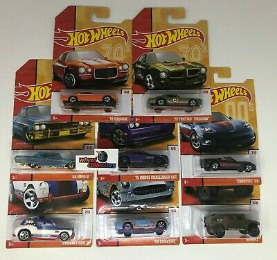 8 Car Set * 2020 Hot Wheels NEW Decades Throwback w/ Camaro, SRT Impala TARGET