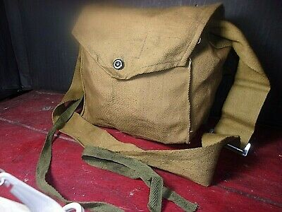 Small Surplus Russian Civilian Gas Mask Bag /Shoulder Bag With Strap