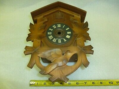 Vintage Cuckoo Clock Hand Carved Case Made in Germany for Parts