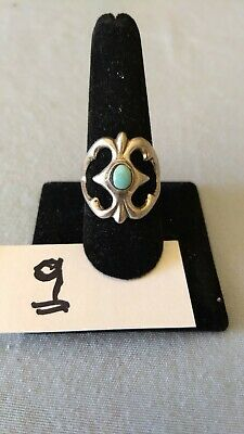 Vintage Native American Sterling Turquoise Ring size 9