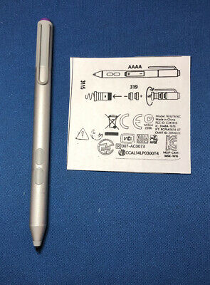 Genuine Stylus Pen for Microsoft Surface Pro 3 4 5 6 Bluetooth, Go, Book,Silver