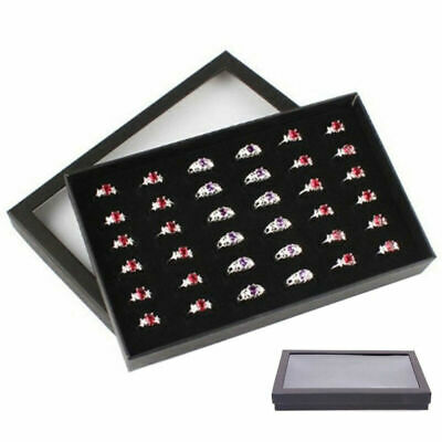 Jewelry Ring Display Organizer Case Tray Holder Earring Storage Box