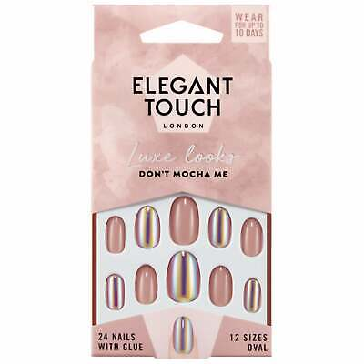 Elegant Touch - Luxe Looks False Nails - Dont Mocha Me (24 Nails & Glue)