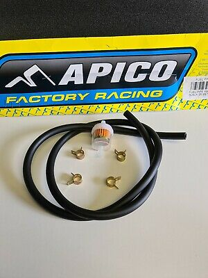 Apico Fuel Line Pipe Hose Clips filter 6mm x 10mm 1 Metre motorcycle scooter