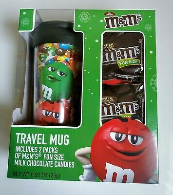 M&M's TRAVEL MUG Gift Set w/ Candy-NIB