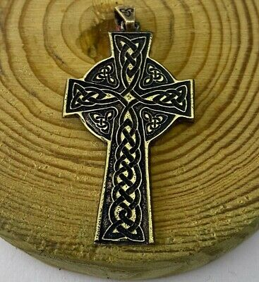 Bronze PENDANT Antiques Ancient Rare MEDIUM SIZED CELTIC CROSS