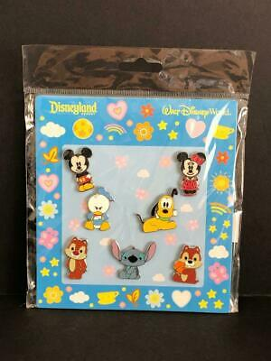 Disney Mickey Minnie Mouse Donald Duck Chip Dale Pluto 7 Pin Booster Set