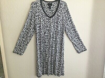CYNTHIA ROWLEY Super Soft L/S Night Gown Fits Like an XL Size Large Wore Once