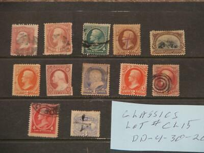 US CLASSICS, LOT#  CL 15 (some may have  faults), USED & UNUSED (GOOD VALUE)