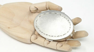 Antique Late 1800s Sterling Silver Makeup Mirror Powder Pill Snuff Beauty Box