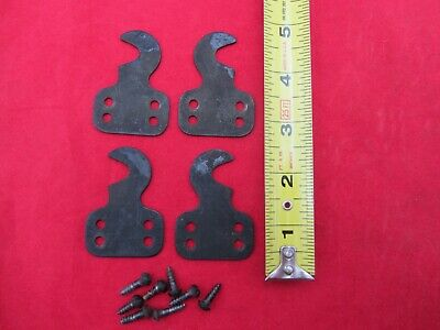 Antique Singer Treadle Sewing Machine Drawer Parts Flat Steel Brackets Set Of 4