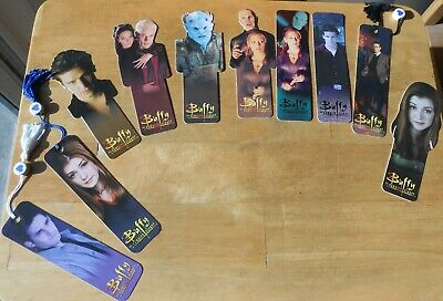 Buffy the Vampire Slayer Lot of 10 Bookmarks 1998; Willow, Angel, Xander, Spike