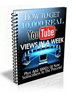 How to Get 10,000 REAL  Views In A Week ,New PDF ebook+MRR  Free Shipping