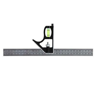 """30CM 12"""" Adjustable Engineers Combination Square Set Right Angle New Ruler F5X3"""
