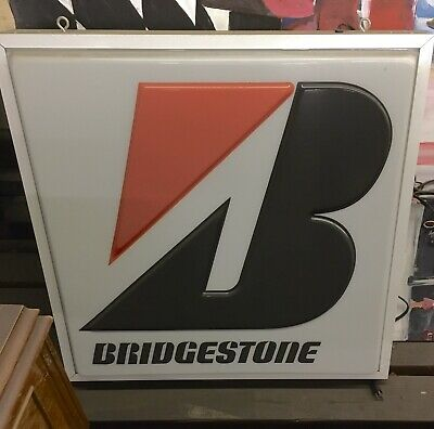 BRIDGESTONE double sided hanging lighted Sign Tires 24x24""