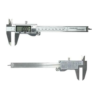 Stainless Steel Electronic Digital LCD Vernier Calip Guage 150mm Micrometer F5X3