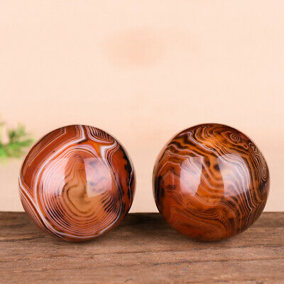 Natural Twisted red Agate Jade Solid Hand Turn Ball Old Man Turn Ball Massage Fi