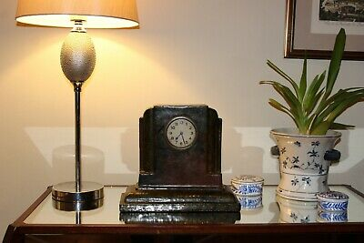 Antique 1920s-1930s Rare Art Deco Mantel Clock,Extremely Heavy,Perfect Time