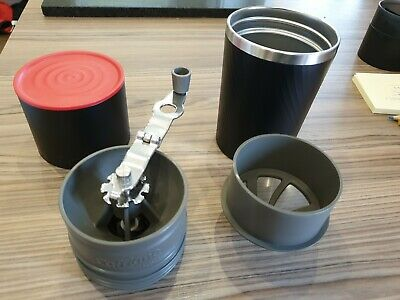 Cafflano Travel Coffee Maker, Grinder, Drip Kettle, Brewer. Coffee Bean