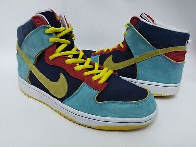 Nike SB Pacman Dunk High Premium 305050-471 Blue Frost/Midwest Gold Size 10 US