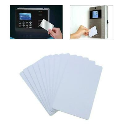 10pcs Blank Identification For Plastic Printing PVC White Photo Card Credit F5X3