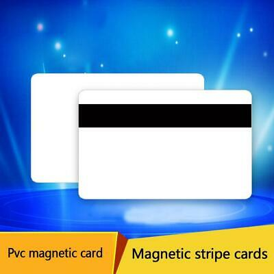 85.5*54*0.76mm 30 MIL Magnetic Stripe BLANK White PVC CARD CREDIT C8Q1 Gift F5X3