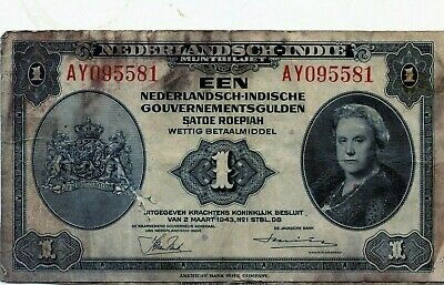 Netherlands Dutch Indies: 1 Gulden, 1943