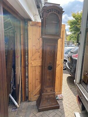 Grandfather clock case Carved Oak Suit Arch Dial Movement